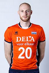20150506 NED: Selectie Nederlands volleybal team mannen, Arnhem<br />Op Papendal werd het Nederlands team volleybal seizoen 2015-2016 gepresenteerd / Jasper Diefenbach<br />©2015-FotoHoogendoorn.nl / Pim Waslander