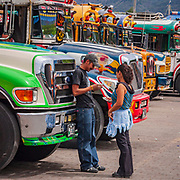 Life in the bus station of Antigua de Guatemala