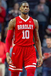 NORMAL, IL - February 16: Elijah Childs during a college basketball game between the ISU Redbirds and the Bradley Braves on February 16 2019 at Redbird Arena in Normal, IL. (Photo by Alan Look)