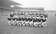 All Ireland Senior Football Final Galway v. Dublin 22nd September 1963 Croke Park..The Galway Team defeated by Dublin.Back Row Left to right S. Leyden, M. McDonagh, N. Tierney, M. MacReynolds, M. Moore, E. Colleran and S. Meade,( People  nine and ten from left unidentified).Front Row Left to Right S. Donnellan, C. Dunne, J. Keenan,  B. Geraghty, M. Garrett Captain, S. B. McDermott, P. Donnellan, M. Newell, (people nine and ten unidentified. from left)..Substitutes: T. Farrell, S. Brennan, J. Keeley, B. Geraghty ..22.09.1963  22nd September 1963