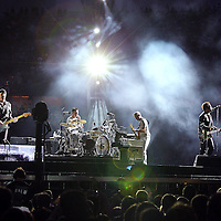 MINNEAPOLIS, MN - JULY 23:  U2 performs at TCF Bank Stadium on July 23, 2011 in Minneapolis, Minnesota.  (Photo by Adam Bettcher/Getty Images) *** Local Caption *** U2