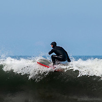 riding the crest of a wave