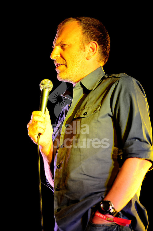 Picture by Daniel Hambury.20/07/08.Comedian Simon Evans performs at Latitude Music Festival..The festival, is held each year on the Henham Estate, near Southwold on the Suffolk coast.