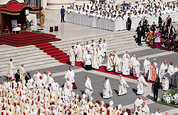 September 4, 2016 - Vatican City State (Holy See) - POPE FRANCIS celebrates canonization mass of Mother Teresa of Calcutta In St. Peter's Square at the Vatican. (Credit Image: © Evandro Inetti via ZUMA Wire)