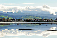 As seen from the Chinese Cemetery on E. Laurel Drive and Natividad Road, heaven and earth reflect in flooded fields in Salinas. The area received close to four inches of much-needed rain on Thursday, December 11th, 2014.