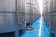 Fermentation tanks. Tsantali Vineyards & Winery, Halkidiki, Macedonia, Greece.