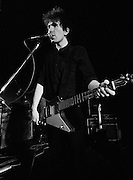 Photograph of U2 -  The Edge at a rehearsal session at Shepperton Studios - 1982