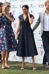 July 26, 2018 - Windsor, United Kingdom - Image licensed to i-Images Picture Agency. 26/07/2018. Windsor, United Kingdom. The Duke and Duchess of Sussex  arriving at the Sentebale ISPS Handa Polo Cup at the Royal County of Berkshire Polo Club in Windsor, United Kingdom. (Credit Image: © Stephen Lock/i-Images via ZUMA Press)