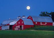 A Buck Moon rises over the Humphrey's Farm, Jul 19, 2016 in New Hartford, N.Y.