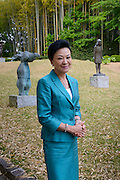 Chieko Hasegawa, Executive Vice President of the Nichido Museum of Art in the museum's sculpture garden, Kasama city, Ibaraki, Japan, May 10, 2013.
