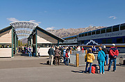 Alaska, Denali National Park, Railroad depot,