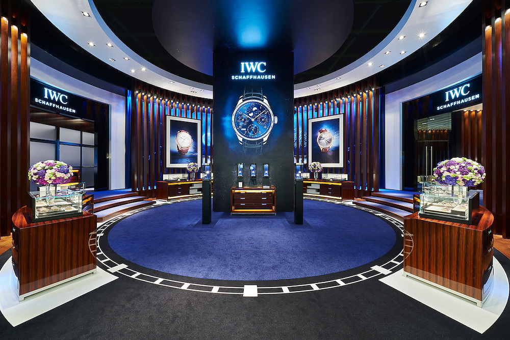 IWC Schaffhausen booth at the Watches & Wonders haute horlogerie exhibition 2015 in Hong Kong. Photo by Victor Fraile for IWC
