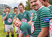 Members of the Moose men's rugby team await the start of their next match on the sidelines during the Teton Tens Tournament at the Field of Dreams in Alpine, Wyoming on Saturday, June 22, 2019. (Rebecca Noble/Jackson Hole News&Guide)