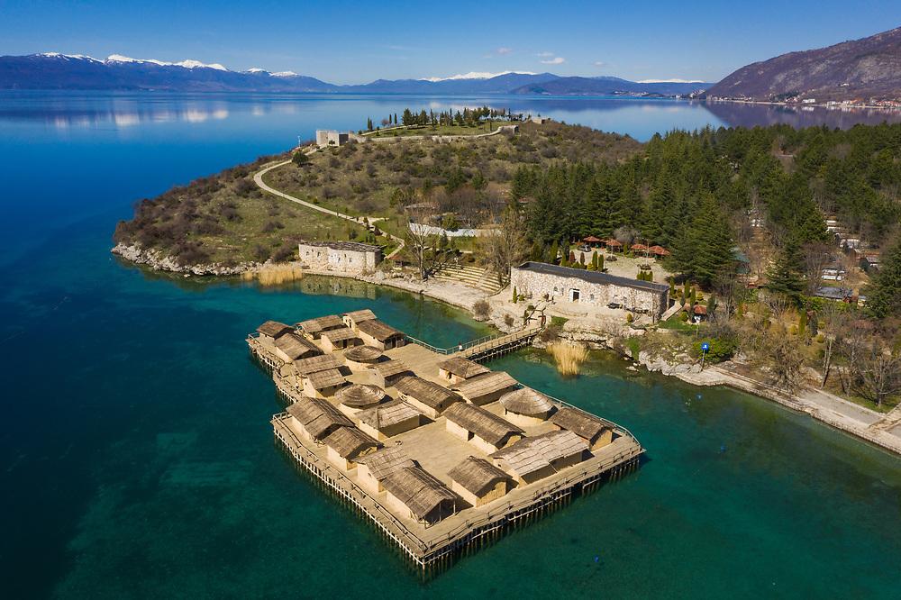 Bay of Bones Museum by Lake Orhid, North Macedonia