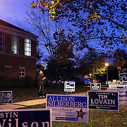 Voting stations in Alexandria, Northern Virginia on Election night, 2012.