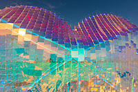 Koro Loko<br /> by: Emily Nicolosi<br /> from: Salt Lake City, UT<br /> year: 2019<br /> <br /> A billowing heart made of wire netting filled with hundreds of tiny dichroic plexi squares refracts the spectra of light in all directions. Benches under lightposts encircling the heart provide a place to hunker, commune and daydream. Like the exuberance of colors reflected by this heart, always-present and ever-shifting, this heart conjures the thousands of expressions and materializations of love prospected in the human experience.<br /> <br /> URL: https://sites.google.com/view/love-is-project/<br /> Contact: emily.nicolosi@gmail.com<br /> <br /> https://burningman.org/event/brc/2019-art-installations/?yyyy=&artType=B#a2I0V000001AW2sUAG My Burning Man 2019 Photos:<br />