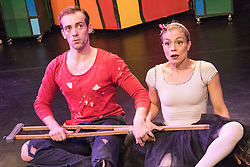 © London News Pictures. 16/12/2014. Peut-etre Theatre's The Tin Soldier, at the Roundhouse, London. Featuring Maya Politaki & Alistair Goldsmith. Photo credit: Tony Nandi/London News Pictures