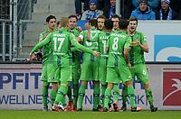 Fotball<br /> Tyskland<br /> 28.11.2015<br /> Foto: Witters/Digitalsport<br /> NORWAY ONLY<br /> <br /> 0:1 Jubel v.l. Lars Stindl, Oscar Wendt, Josip Drmic, Granit Xhaka, Torschuetze Fabian Johnson, Raffael, Mahmoud Dahoud, Håvard Nordtveit (Gladbach) <br /> <br /> Fussball Bundesliga, TSG 1899 Hoffenheim - Borussia Mönchengladbach