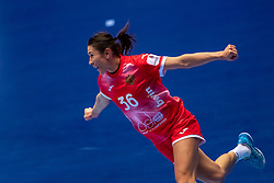 Iuliia Managarova of Russia in action during the Women's EHF Euro 2020 match between France and Russia at Jyske Bank BOXEN on december 11, 2020 in Kolding, Denmark (Photo by RHF Agency/Ronald Hoogendoorn)