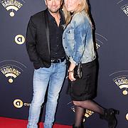 NLD/Hilversum/20170119 - Start inloop 11de Radio Gala 2016, Gerard Ekdom en partner Nicole Smits