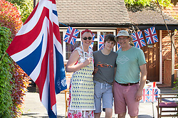 ©Licensed to London News Pictures 08/05/2020  <br /> Pettswood, UK. The Lee Family from Pettswood, South East London. VE-Day 75th anniversary celebrations in coronavirus lockdown. People enjoy parties in their front gardens with family and neighbours as they observe social distancing. Photo credit:Grant Falvey/LNP