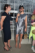 KERRY ELMSLY; LYALL HAKARAIA, The Serpentine Summer Party 2013 hosted by Julia Peyton-Jones and L'Wren Scott.  Pavion designed by Japanese architect Sou Fujimoto. Serpentine Gallery. 26 June 2013. ,