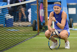 June 23, 2017 - Birmingham, England - LUCIE SAFAROVA of the Czech Republic in her quarterfinal match v. D. Gavrilova in the Aegon Classic Birmingham tennis tournament. (Credit Image: © Christopher Levy via ZUMA Wire)
