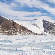 Herbertson Glacier seen from the sea ice.