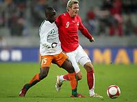 Fotball<br /> Privatlandskamp<br /> Østerrike v Elfenbenskysten<br /> 17.10.2007<br /> Foto: Gepa/Digitalsport<br /> NORWAY ONLY<br /> <br /> Aruna Dindane (CIV) und Roman Kienast (AUT)