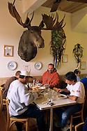 Breakfast at the Bluebird Cafe, Hopland, Mendocino County, California