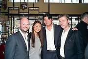 MAGNUS RENFREW;MAY ULLELS; ; RICHARD CHANG; JEROME SANS  , Brunch to celebrate the launch of Art HK 11. Miss Yip Chinese Cafe. Meridian ave,  Miami Beach. 3 December 2010. -DO NOT ARCHIVE-© Copyright Photograph by Dafydd Jones. 248 Clapham Rd. London SW9 0PZ. Tel 0207 820 0771. www.dafjones.com.
