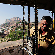 Richshaw parked begore heading back to Mehrangarh Fort