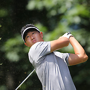 James Hahn, USA, in action during the third round of the Travelers Championship at the TPC River Highlands, Cromwell, Connecticut, USA. 21st June 2014. Photo Tim Clayton
