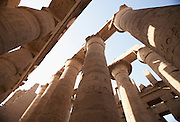 Great Hypostyle Hall, Temple of Amun at Karnak..Luxor, Egypt