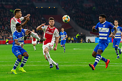 13-03-2019 NED: Ajax - PEC Zwolle, Amsterdam<br /> Ajax has booked an oppressive victory over PEC Zwolle without entertaining the public 2-1 / Kenneth Paal #5 of PEC Zwolle, David Neres #7 of Ajax, Klaas Jan Huntelaar #9 of Ajax, Darryl Lachman #29 of PEC Zwolle