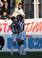 FA CUP 4TH ROUND. COLCHESTER V DERBY 28.01.06<br />PHOTO: SHELLEY GARLICK FOTOSPORTS INTERNATIONAL<br />COLCHESTER'S NEIL DANNS CELEBRATES HIS GOAL WITH KEMI IZZET