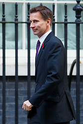 © Licensed to London News Pictures. 04/11/2014. LONDON, UK. Health Secretary Jeremy Hunt attending to a cabinet meeting in Downing Street on Tuesday 4 November 2014. Photo credit: Tolga Akmen/LNP