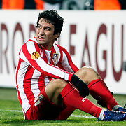 Atletico Madrid's Arda Turan during their UEFA Europa League Round of 16, Second leg soccer match Besiktas between Atletico Madrid at Inonu stadium in Istanbul Turkey on Thursday March 15, 2012. Photo by TURKPIX