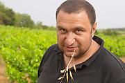 Pierre Quinonero Domaine de la Garance. Pezenas region. Languedoc. Owner winemaker. France. Europe. Vineyard.