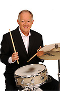 Brian Bennett, Drummer with The Shadows pictured by Don MacMonagle in Spetewmber 2009 prior to the world tour with Cliff Richard.