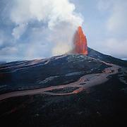 Lava fountain, Kilauea Volcano, Island of Hawaii