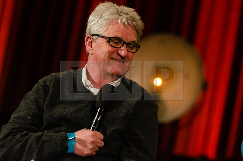 © Licensed to London News Pictures. 19/03/2013. London, UK. Melvin Benn, MD of Festival Republic, announces the artist line-up of Latitude Festival 2013 live on-air on BBC Radio 6 Music during an interview with Steve Lamacq at the BBC studios in Maida Vale.   It is also announced that BBC Radio 6 Music will be the official broadcast partner with the naming of the second stage at Latitude as the BBC Radio 6 Music stage.  Headline acts include Bloc Party, Kraftwerk and Foals.   Photo credit : Richard Isaac/LNP
