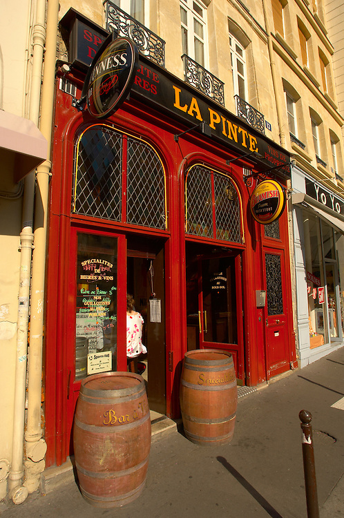 Paris France - Bistro St Germain La Pinte .<br /> <br /> Visit our FRANCE HISTORIC PLACES PHOTO COLLECTIONS for more photos to download or buy as wall art prints https://funkystock.photoshelter.com/gallery-collection/Pictures-Images-of-France-Photos-of-French-Historic-Landmark-Sites/C0000pDRcOaIqj8E