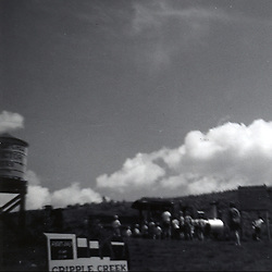 August 1968:  a view of undeveloped Cripple Creek Colorado. Still just a tourist attraction in 1968..Image taken by a pre-teen boy during the year listed in caption,  scanned and adjusted in PhotoShop.  Image was shot with a Kodak Hawkeye 126 Instamatic camera..