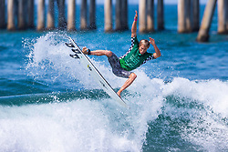 Tanner Hendrickson (HAW) advances to Round 3 of the 2018 VANS US Open of Surfing after placing second in Heat 15 of Round 2 at Huntington Beach, California, USA.