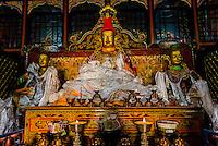 Riwo Dechen Monastery, near the Tombs of the Tibetan Kings, Qonggyai, Tibet (Xizang), China.