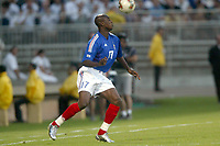 FOOTBALL - CONFEDERATIONS CUP 2003 - GROUP A - 030618 - FRANKRIKE v COLOMBIA - OLIVIER KAPO (FRA) - PHOTO GUY JEFFROY / DIGITALSPORT