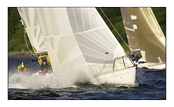 Yachting- The start of the Bell Lawrie Scottish series 2002 at Gourock racing overnight to Tarbert Loch Fyne where racing continues over the weekend.<br /><br />Sigma 36 Significant GBR3892.<br />class4 <br /><br />Pics Marc Turner / PFM