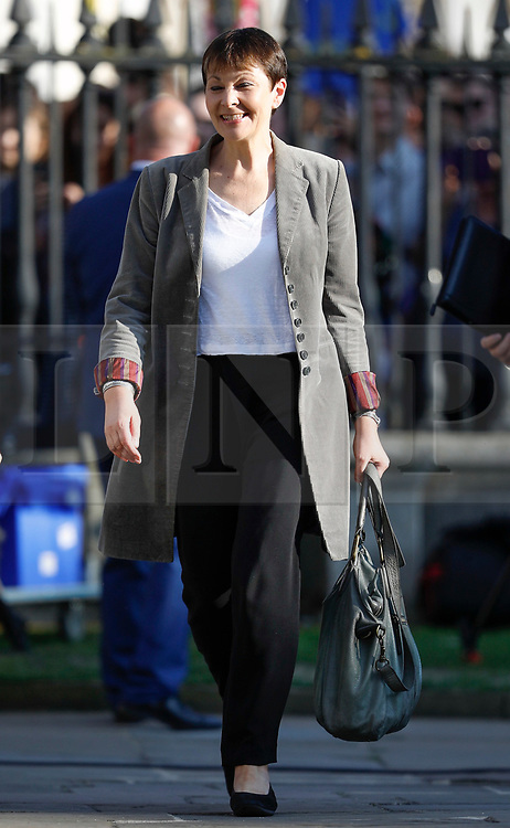 © Licensed to London News Pictures. 31/05/2017. Cambridge, UK.  Leader of the Green Party CAROLINE LUCAS arrives at Senate House in Cambridge ahead of a leaders debate on BBC one. Recent polls have show a closing in the gap between the Labour Party and Conservative Party, in what was expected to be a landslide general election victory for the Conservatives. Photo credit: Peter Macdiarmid/LNP