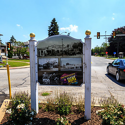 York, PA – June 25, 2016: A City of York sign at The Lincoln Highway Turkey Hill Market.